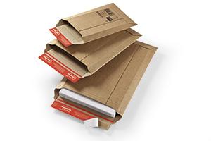 Bolsas de cartón corrugado.