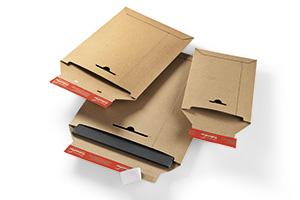 Bolsa de cartón rígido reutilizable.