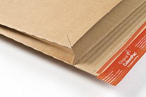 Sobres de cartón con fuelles.