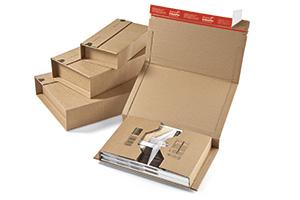 Caja envolvente con bordes reforzados.