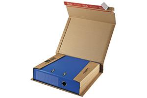 Wrap-Around-Kartons für Aktenordner.