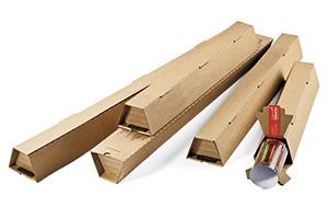 Trapezoide Kartons, perfekt für Pläne.