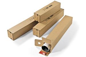Quadratische Kartons für Bogen, Pläne usw.