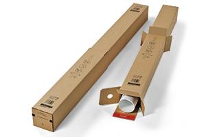 Ausziehbare Kartons, quadratisch.