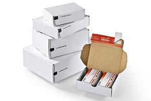 Modulare Kartons, ideal für Transportbänder.