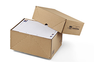 Cajas plegables con fondo y tapa.