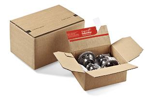 Robuste Kartons für den Versand von schweren Teilen.