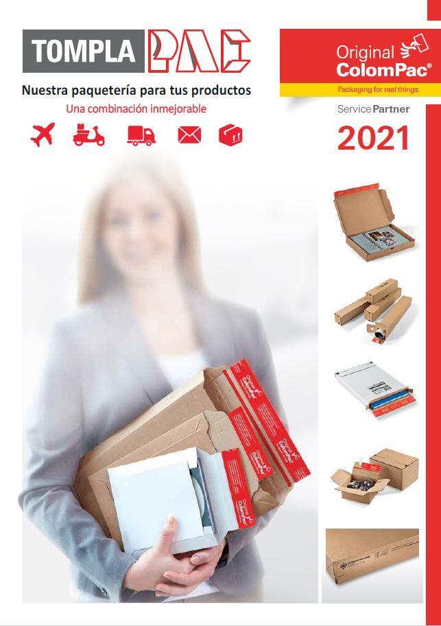 Catálogo de cajas para envío postal.